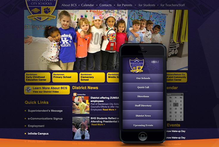 eSchoolView's Mobile Suite offers to keep your school better connected to your community.  Our Mobile Suite and your website are always synchronized. You never have to enter your content twice.