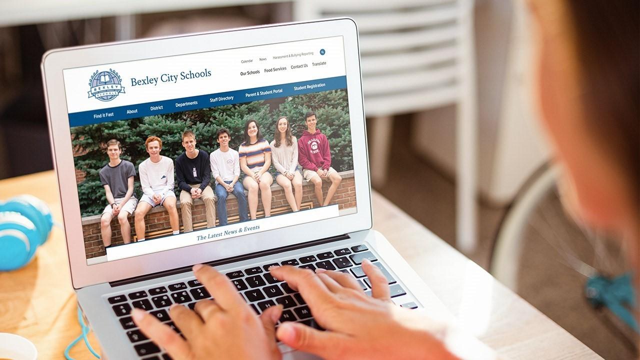 Bexley City Schools Website Example Image