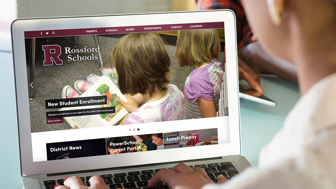 Rossford Schools Website Example Image